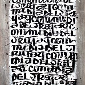G CSA 80 Gregos Commedia del Street Art 1 2014 Acrylique plâtre sur parquet 129x97x5cm