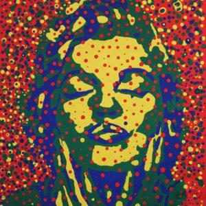 Gregos Marilyne Acrylique et plâtre sur toile 55x46cm_1