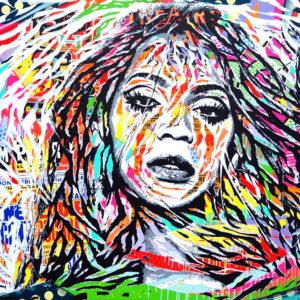 1000px_RUN THE WORLD by Jo Di Bona 2016 130x195 technique mixte sur toile