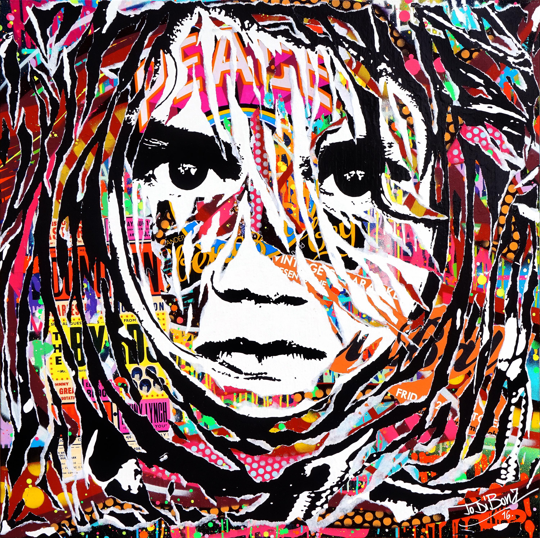 product Urban_PIERCES MY SOUL by Jo Di Bona 2016 100×100 technique mixte sur toile
