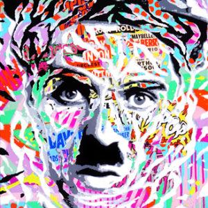 CHAPLIN IS SO POP! by Jo Di Bona 2017 50x65 technique mixte sur toile_bd