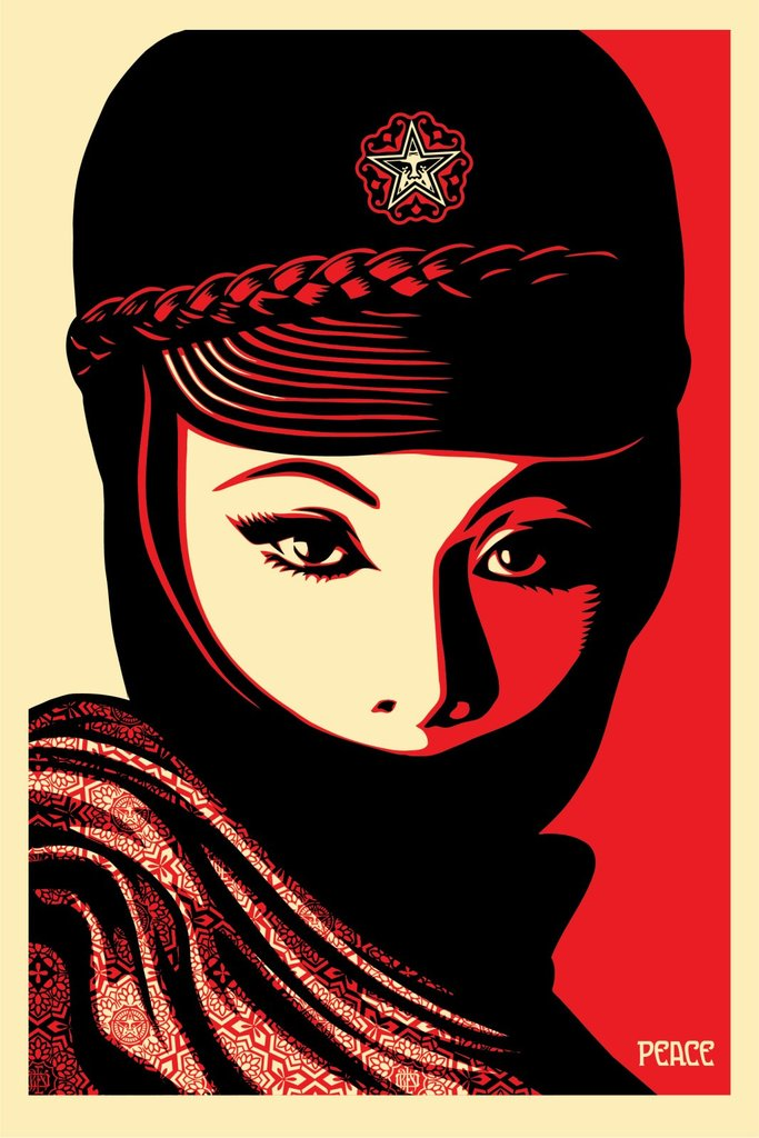 product Obey shepard fairey Green-Power Mujer-Fatale-poste 2017 signe date