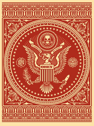 product Presidential seal (red)- obey- shepard fairey – 300ex- 2007